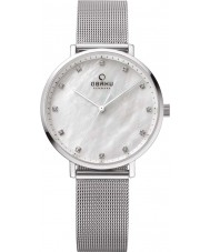 Obaku V186LXCWMC Ladies Silver Steel Mesh Bracelet Watch