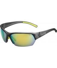 Bolle Ransom Satin Crystal Grey Polarized Brown Emerald Sunglasses