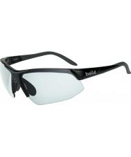 Bolle Breakaway Shiny Black Modulator Clear Grey Sunglasses