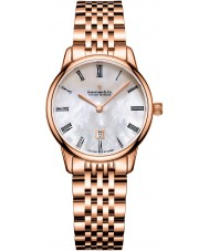 Dreyfuss and Co DLB00138-41 Ladies 7 Links Rose Gold Plated Bracelet Watch
