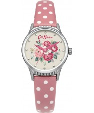 Cath Kidston CKL012PS Ladies Forest Bunch Pink PU Leather with Polka Dot Watch