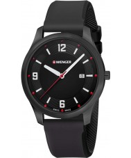 Wenger 01-1441-111 Mens City Active Black Silicone Strap Watch