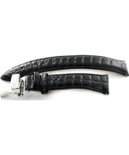 Krug Baümen 4001LSBLK Air Traveller Black Leather Replacement Strap