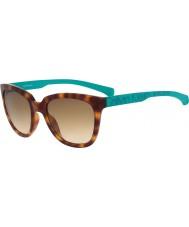 Calvin Klein Jeans Ladies CKJ779S Dark Havana Green Sunglasses