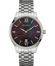Bulova 96S162 Ladies Diamond Gallery Silver Steel Bracelet Watch