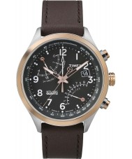 Timex Intelligent Quartz TW2P73400 Mens Black Brown Fly-Back Chronograph Watch