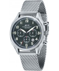 AVI-8 AV-4025-12 Mens Supermarine Seafire Silver Mesh Chronograph Watch