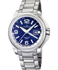 Candino C4451-B Mens Dual Time Silver Steel Bracelet Watch