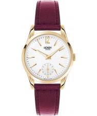 Henry London HL30-US-0060 Ladies Holborn White Burgundy Watch