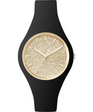 Ice-Watch 001348 Ladies Ice-Glitter Black Silicone Strap Small Watch