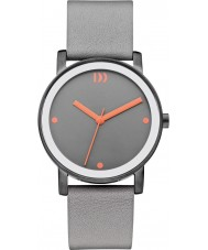 Danish Design V26Q1049 Ladies Grey Leather Strap Watch