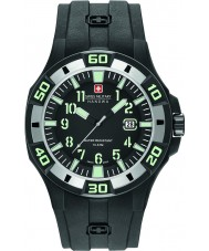 Swiss Military 6-4292-27-007-07 Mens Bermuda Black Silicone Strap Watch