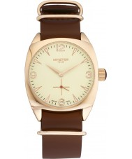 Minster 1949 MN04CRRG10 Mens Burlingham Brown Leather Strap Watch