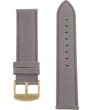 Charles Conrad CDA1006-17-L27 Grey Leather Strap