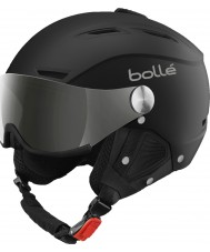 Bolle 31156 Backline Visor Soft Black and Silver Ski Helmet with Silver Gun and Lemon Visor - 59-61cm