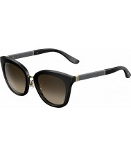 Jimmy Choo Ladies Fabry-S FA3 J6 Black Glittery Sunglasses