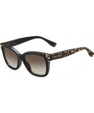 Jimmy Choo Ladies Bebi-S PUE J6 Animal Black Sunglasses