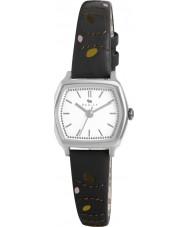 Radley RY2163 Ladies Black Leaf Stitched Leather Strap Watch