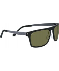 Serengeti Ferrara Satin Black Polarized PhD 555nm Sunglasses