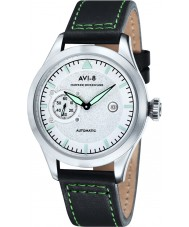 AVI-8 AV-4016-01 Mens Hawker Hurricane Dark Green Leather Strap Watch