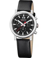 Mondaine A690-30304-14SBB Evo Big Black Leather Chronograph Watch