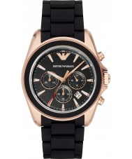 Emporio Armani AR6066 Mens Matte Black Chronograph Sports Watch