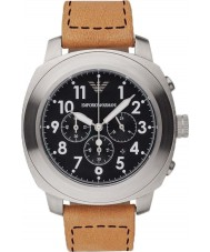 Emporio Armani AR6060 Mens Light Brown Chronograph Sports Watch
