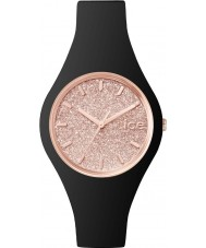 Ice-Watch 001346 Ladies Ice-Glitter Black Silicone Strap Small Watch