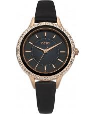 Oasis B1551 Ladies Black Leather Strap Watch