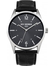 Ben Sherman WB060BB Mens Black Leather Strap Watch