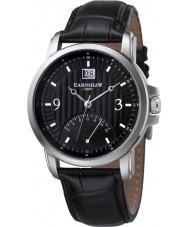 Thomas Earnshaw ES-8020-01 Mens Fitzroy Dual Time Black Leather Strap Watch