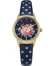 Cath Kidston CKL012UG Ladies Forest Bunch Navy PU Leather with Polka Dot  Watch
