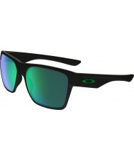 Oakley OO9350-08 TwoFace XL Matte Black - Jade Iridium Sunglasses