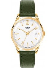 Henry London HL39-S-0098 Chiswick Moss Green Leather Strap Watch