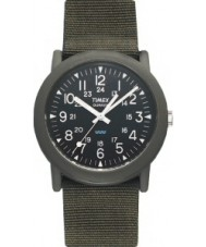 Timex T41711 Mens Black Green Camper Expedition Watch