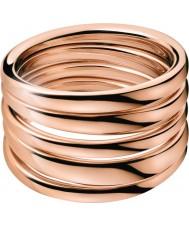 Calvin Klein KJ2GPR100107 Ladies Sumptuous Rose Gold Ring - Size N