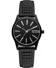 Barbour BB010BKBK Ladies Bewick Black Leather Strap Watch