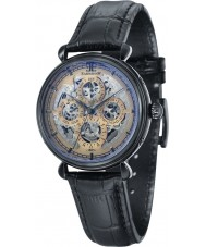 Thomas Earnshaw ES-8043-06 Mens Grand Calendar Black Leather Strap Watch