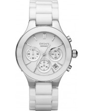 DKNY NY4912 Ladies Chambers White Ceramic Chronograph Watch