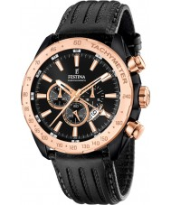 Festina F16899-1 Mens Prestige Black Leather Chronograph Watch