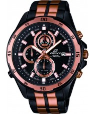 Casio EFR-547BKG-1AVUEF Mens Edifice Black Rose Gold Steel Bracelet Watch