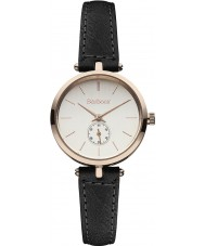 Barbour BB011RSBK Ladies Lisle Black Leather Strap Watch