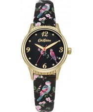 Cath Kidston CKL013BG Ladies British Birds Black PU Leather Strap Watch