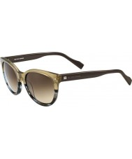 BOSS Orange Ladies BO 0104-S 9V6 CC Brown Pattern Sunglasses