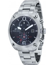AVI-8 AV-4037-11 Mens Hawker Harrier II Silver Steel Bracelet Chronograph Watch