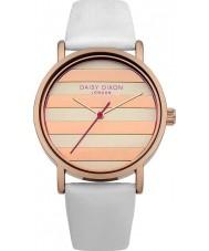 Daisy Dixon DD009WRG Ladies Poppy White Leather Strap Watch