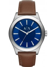 Armani Exchange AX2324 Mens Dress Dark Brown Leather Strap Watch
