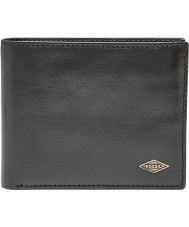 Fossil ML3729001 Mens Ryan Black Bifold RFID Wallet with Flip ID