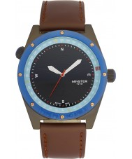 Minster 1949 MN05BKBK10 Mens Fryston Brown Leather Strap Watch