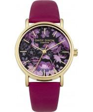 Daisy Dixon DD037RG Ladies Scarlett Raspberry Leather Strap Watch